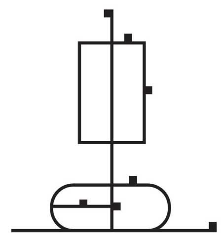 Схема испытания ствола или цилиндра на сжатие